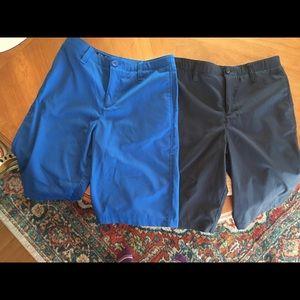 2 pair boys size 14 Under Armour golf shorts